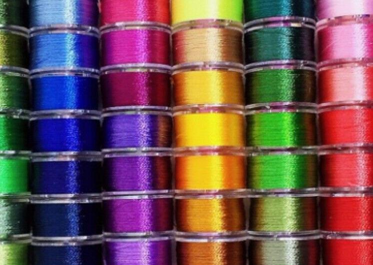 25 Colors Prewound Embroidery Bobbins 40 Wt Polyester Embroi