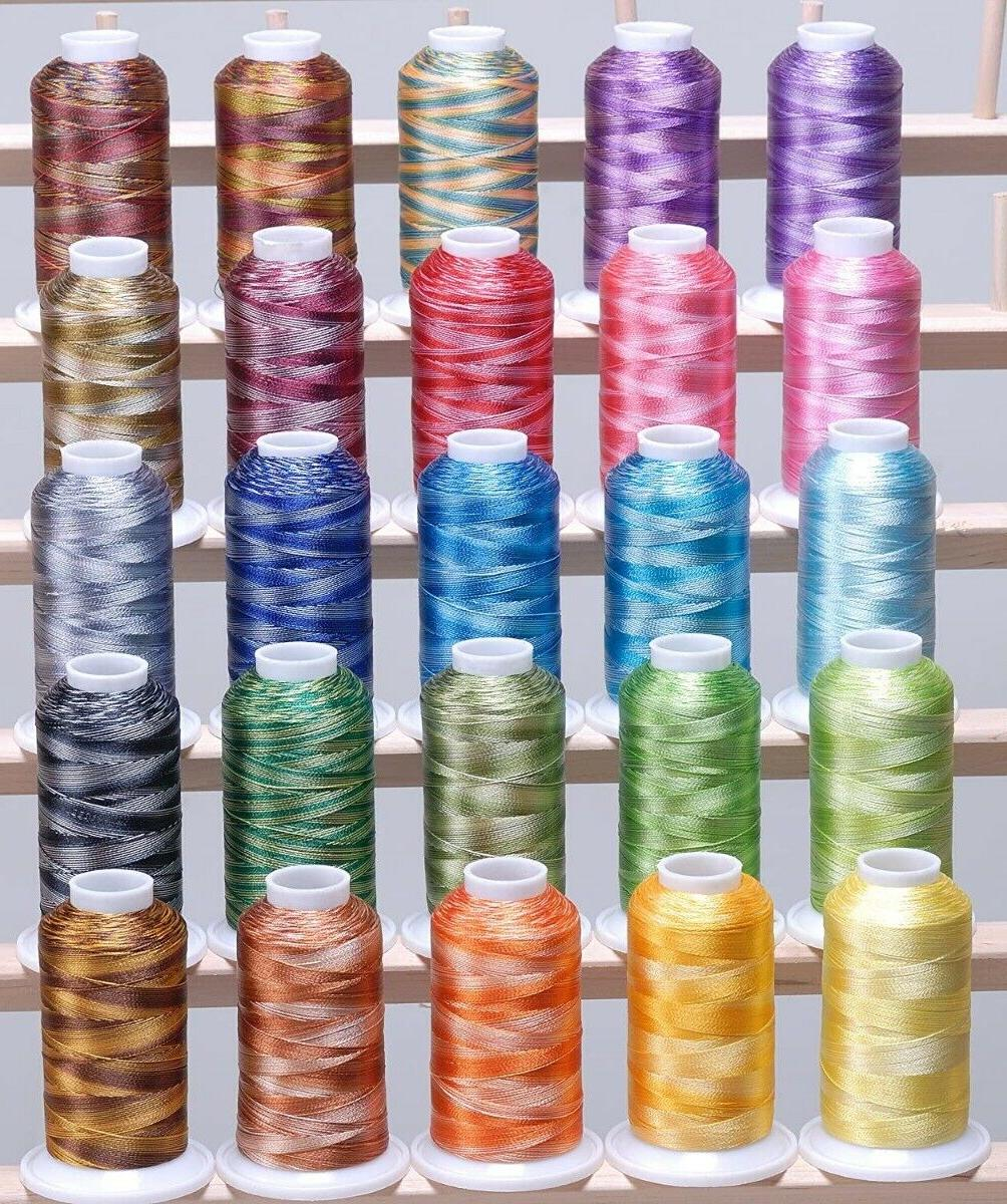 25 Large Variegated Polyester Thread