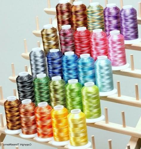 25 colors large cones variegated polyester embroidery