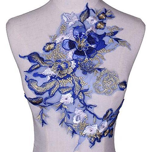 3d flower embroidery sequins applique