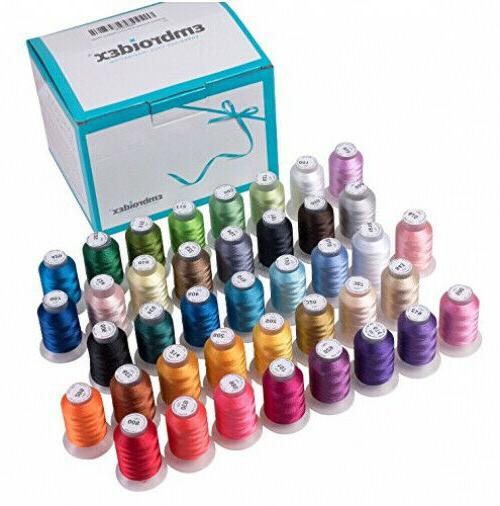 40 spools polyester embroidery machine thread set