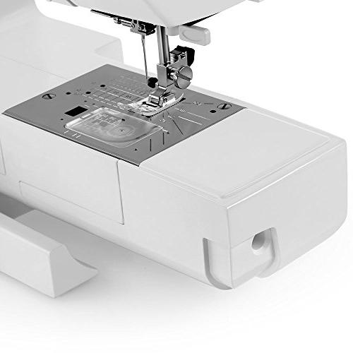 """Janome Sewing Machine w/Hard Extension Table DVD + 1/4"""" Seam Foot Foot + Foot + + Needles + More!"""