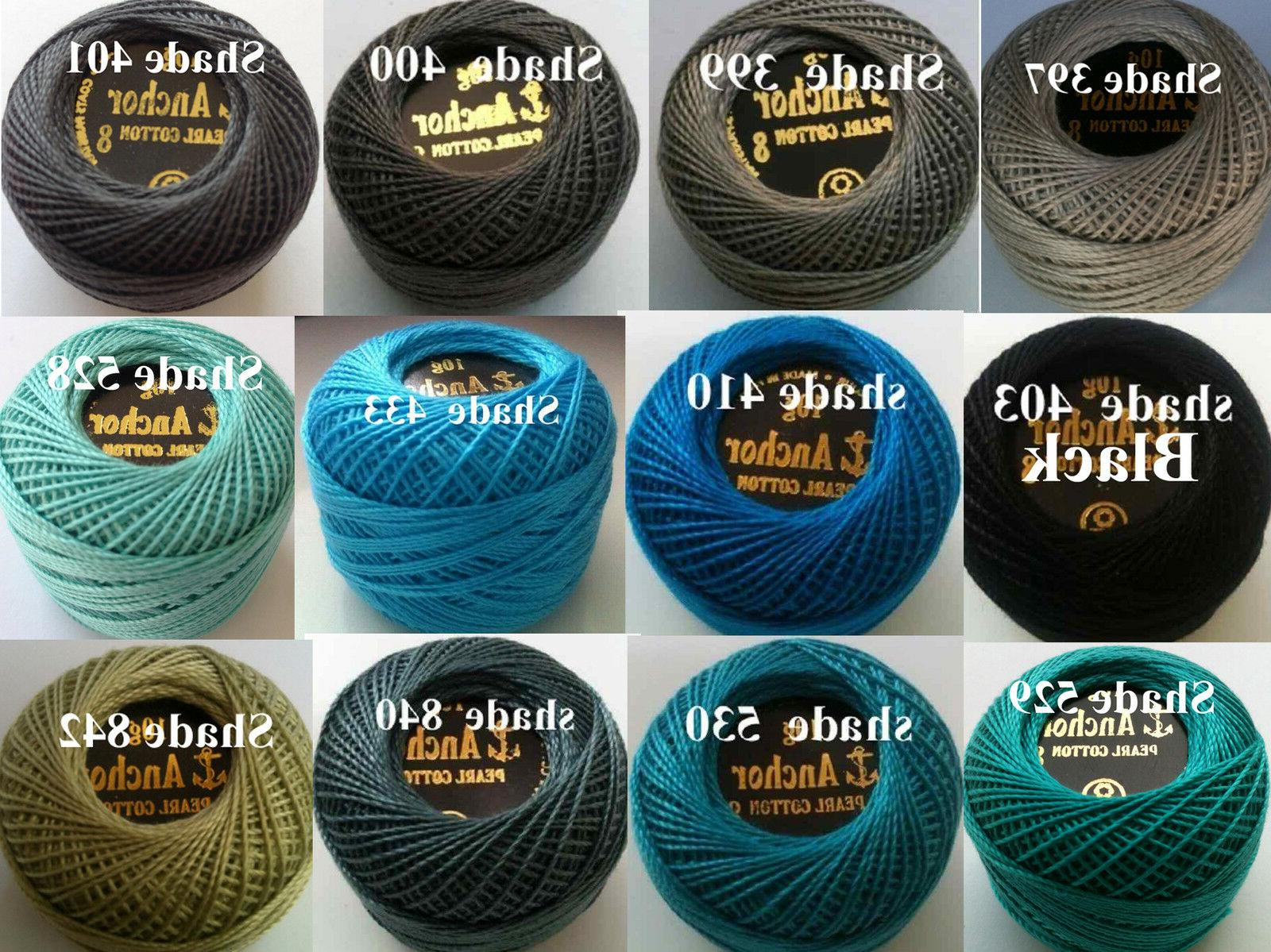 5 Pearl Cotton Crochet in each Color Postage