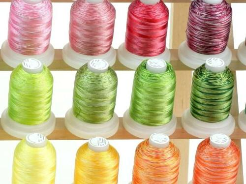 50 Cones Colors Polyester Machine Multi-color Threads