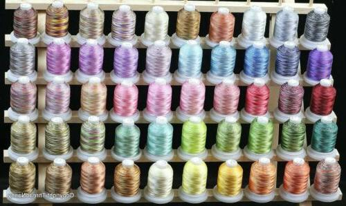 50 cones 550y variegated colors polyester embroidery