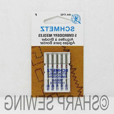 5pk embroidery sewing machine needles
