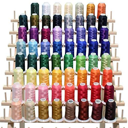 63 brother embroidery thread set