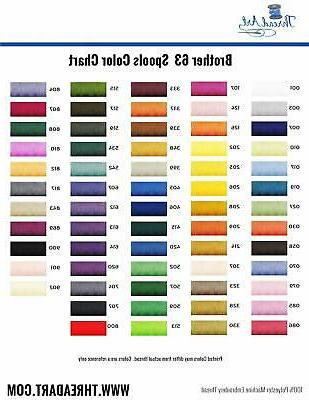 Threadart Brother Colors Polyester Embroidery Thread 500M