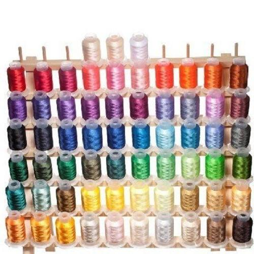 63 spools brother colors polyester embroidery machine