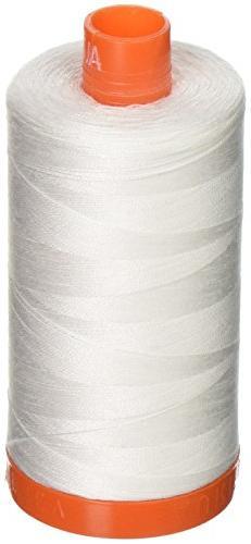 Aurifil A1050-2021 Mako Cotton Thread Solid 50WT 1422Yds Nat