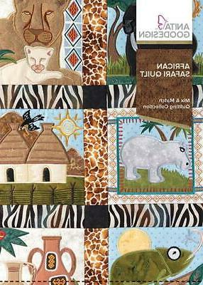 african safari embroidery machine design cd new