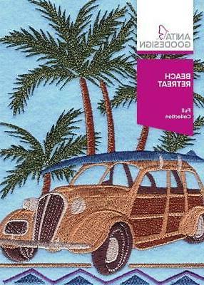 beach retreat embroidery machine design cd new
