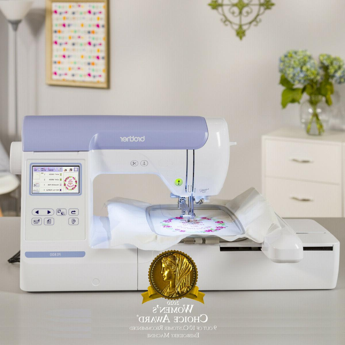 """Brother PE800 Embroidery Machine, 138 Built-in Designs, 5"""" x"""