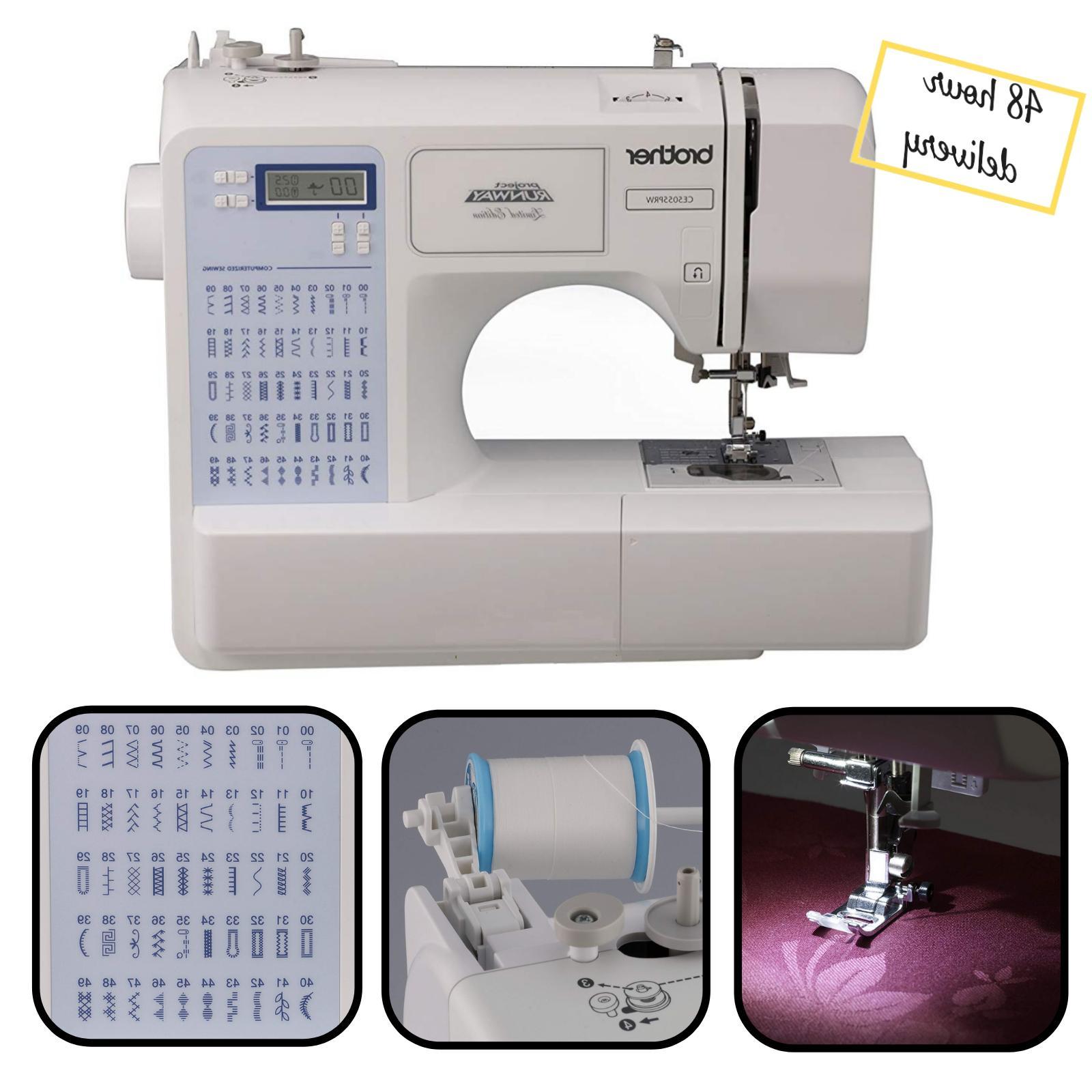 computerized sewing machine 50 stitch runway electric
