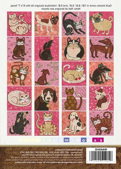 Anita Dogs Cats Embroidery CD