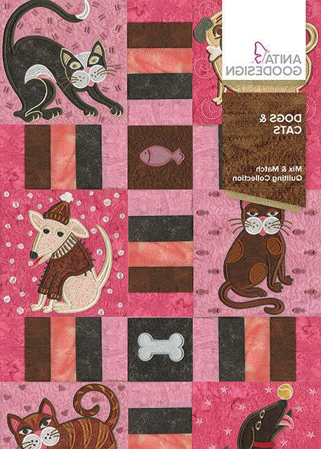 dogs and cats embroidery machine design cd