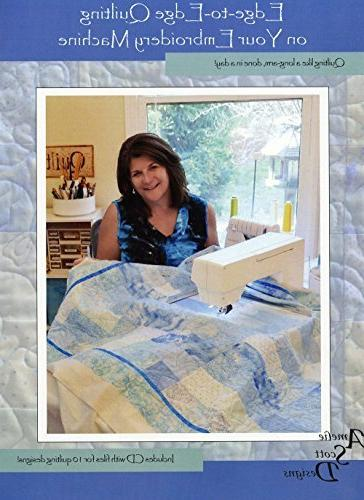 Edge-to-edge Quilting on Embroidery Quilting on a in Includes Cd Files 10