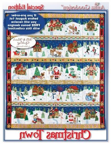 embroidery christmas town mix match