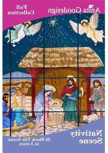 embroidery designs cd nativity scene