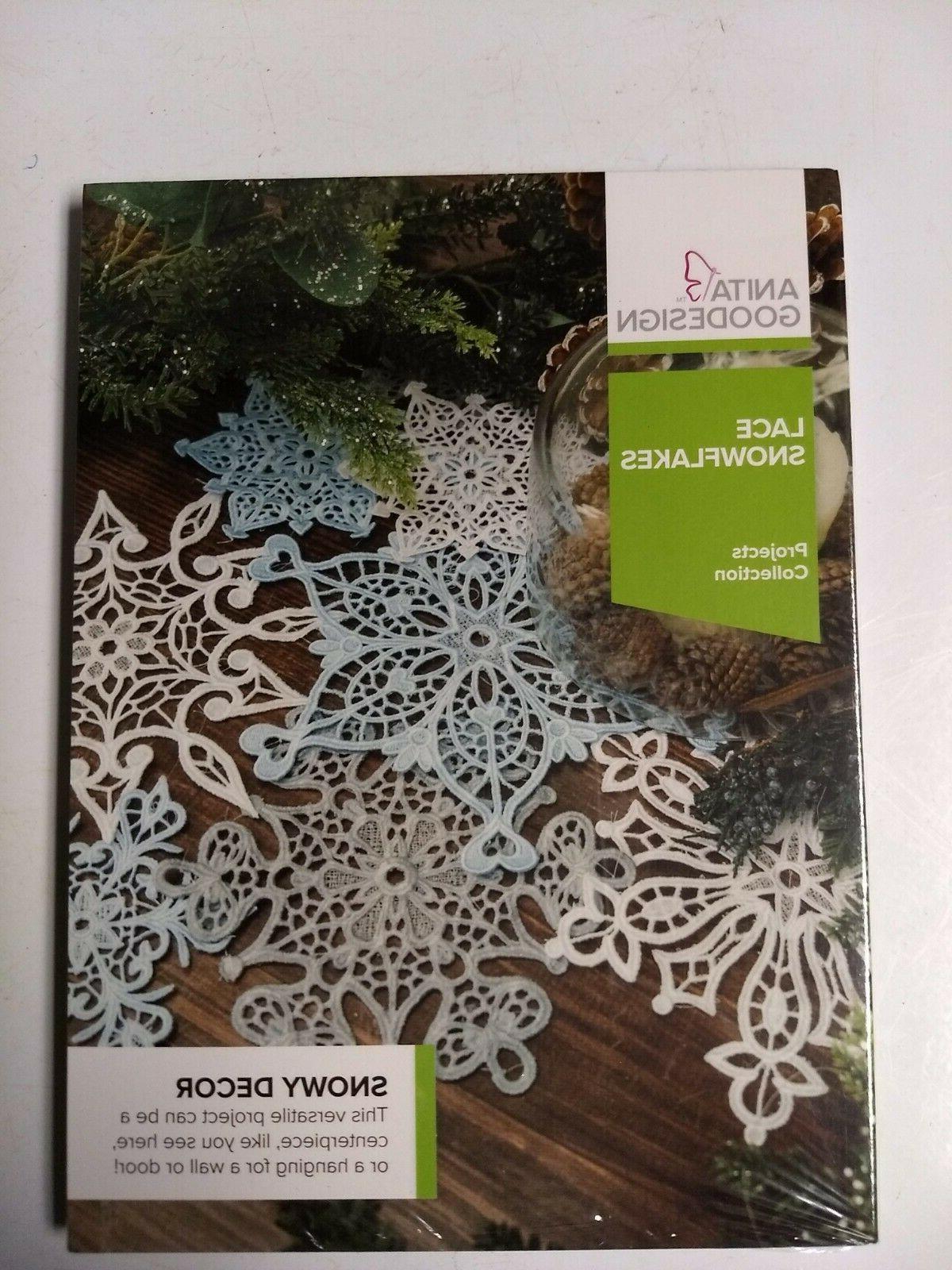 embroidery machine design lace snowflakes proj129