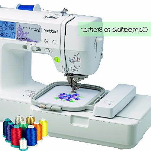 TAOindustry Spools 550 per Spool, Compatible Brother Singer Pfaff Bernina and Sewing Pieces + 2