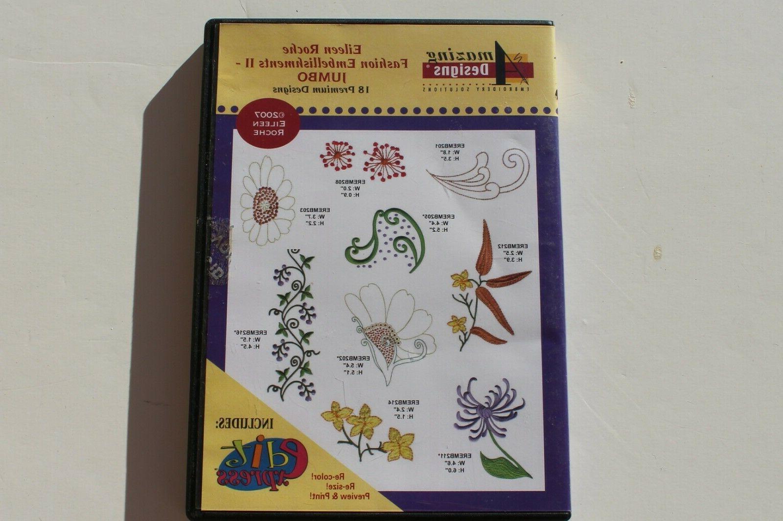 fashion embellishments ii machine embroidery cd preowned