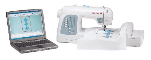 SINGER Sewing and125 Embroidery Design Machine including 30 BuiltIn Stitches, Fully 2step Buttonhole,Drop