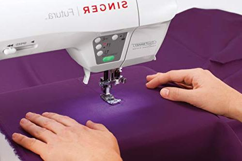 Singer Futura and Machine 125 Embroidery Built-in Stitches, Thread Cutter, sewing fabrics ease