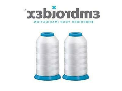 huge white spools bobbin thread