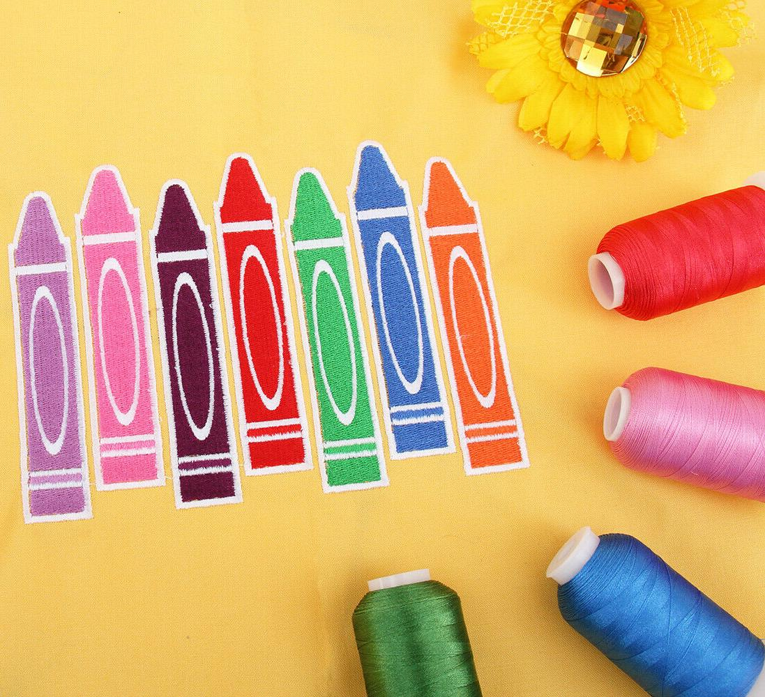 INDIVIDUAL CONES POLYESTER MACHINE EMBROIDERY THREAD 1000M - 200+