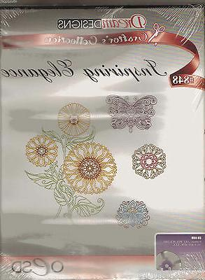 inspiring elegance 848 machine embroidery designs cd
