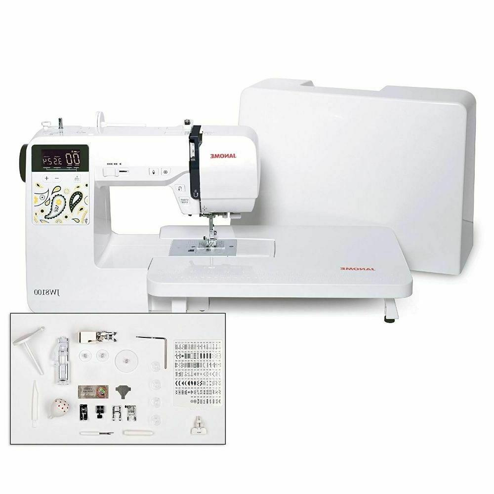 jw8100 fully featured computerized sewing