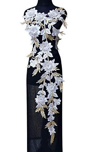 lace neckline trim applique embroidery