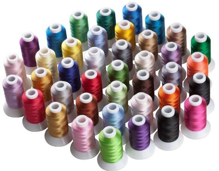 large cone rayon embroidery machine thread size