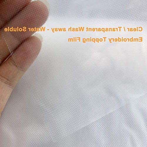 New Weight Clear - Water Film - 3M Any Sizes Embroidery and