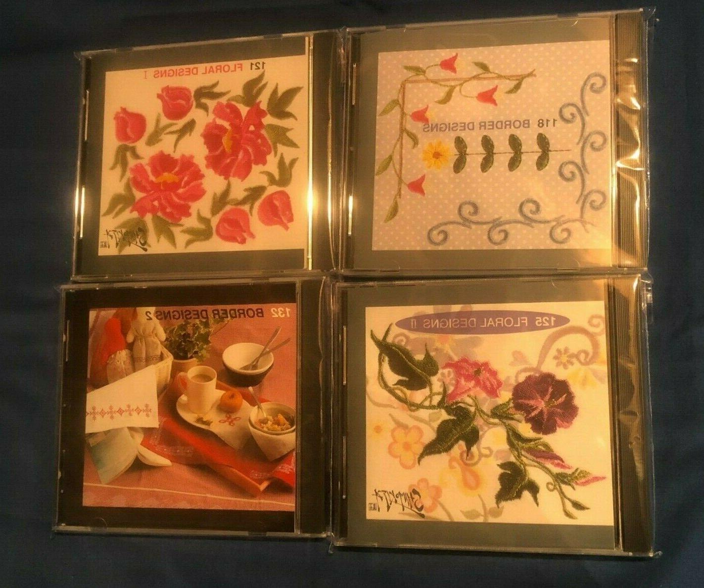 lot of 4 sewing machine embroidery memory