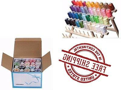 Machine Embroidery Thread 40 Spools Colors Polyester Brother