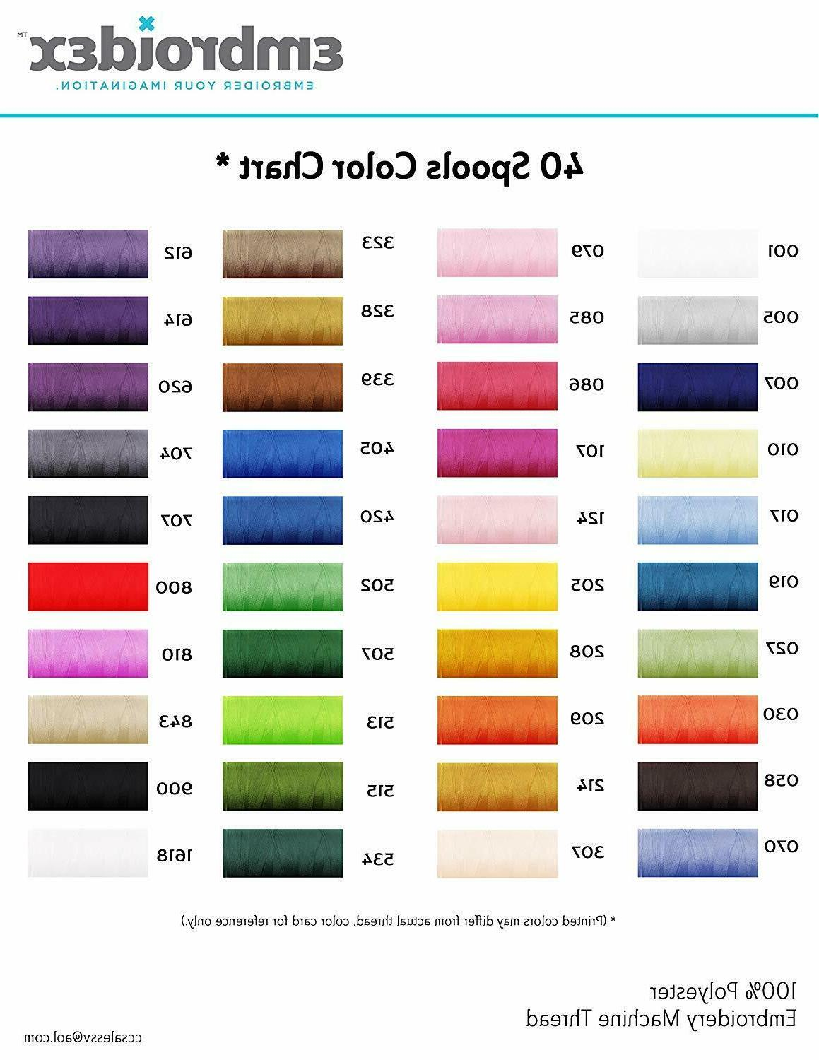 Machine Embroidery Polyester Embroidex 40 Beautiful Color