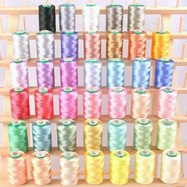 new 40 frosty color rayon machine embroidery