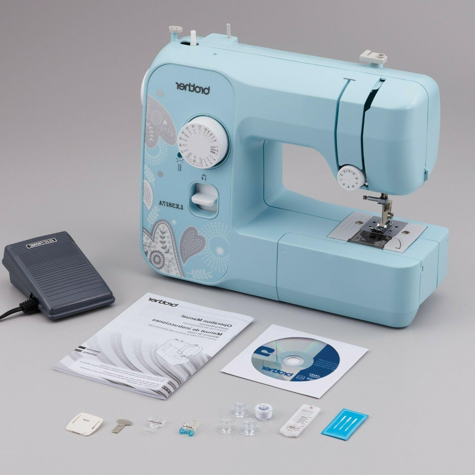 Brother LX3817 Sewing Machine with 17 Builtin Stitches and 4