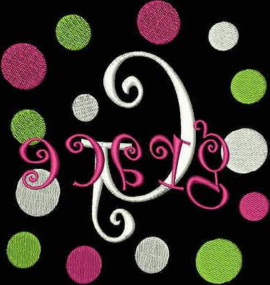 on sale curlz dots machine embroidery designs