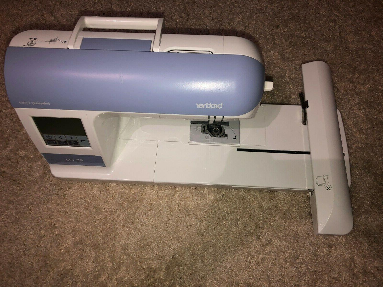 pe 770 computerized embroidery sewing machine built