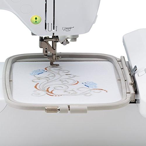 """Brother 5"""" x Embroidery-Only Machine Color LCD Display, USB 11 Lettering Fonts, 138 Built-In"""