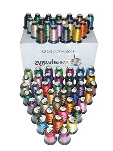 polyester embroidery machine thread set