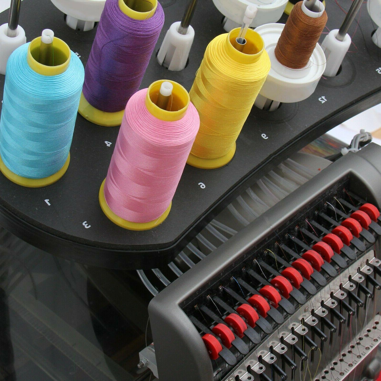 POLYESTER MACHINE EMBROIDERY THREAD | HUGE 5000M  CONES