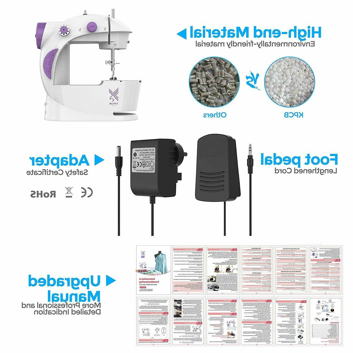 Portable Beginners Sewing Machine With Extension Table