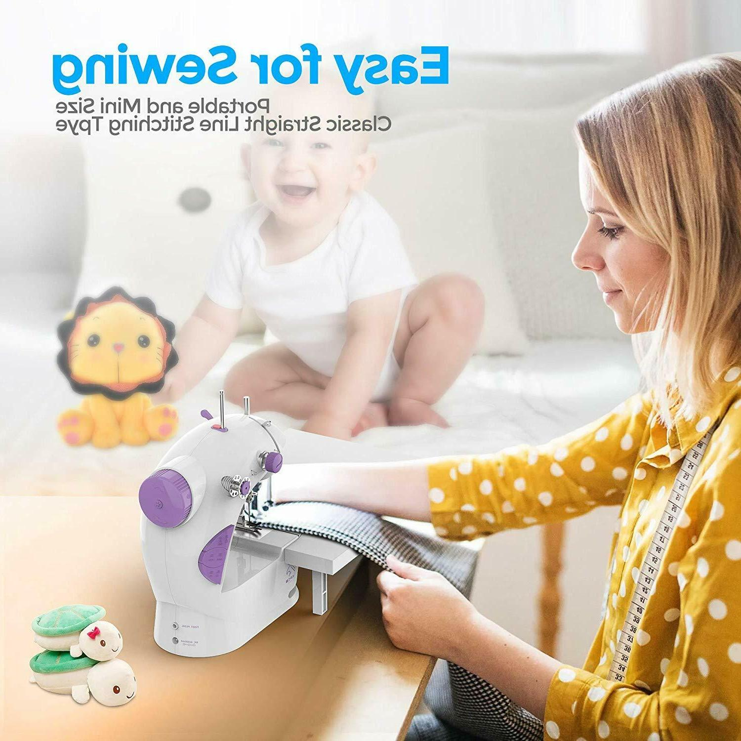 Portable Kids Sewing Machine Mending With Extension