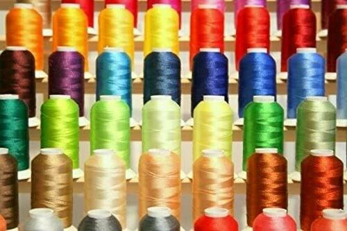 Premium 100 Polyester Machine Embroidery Threads 1100 Yards Each