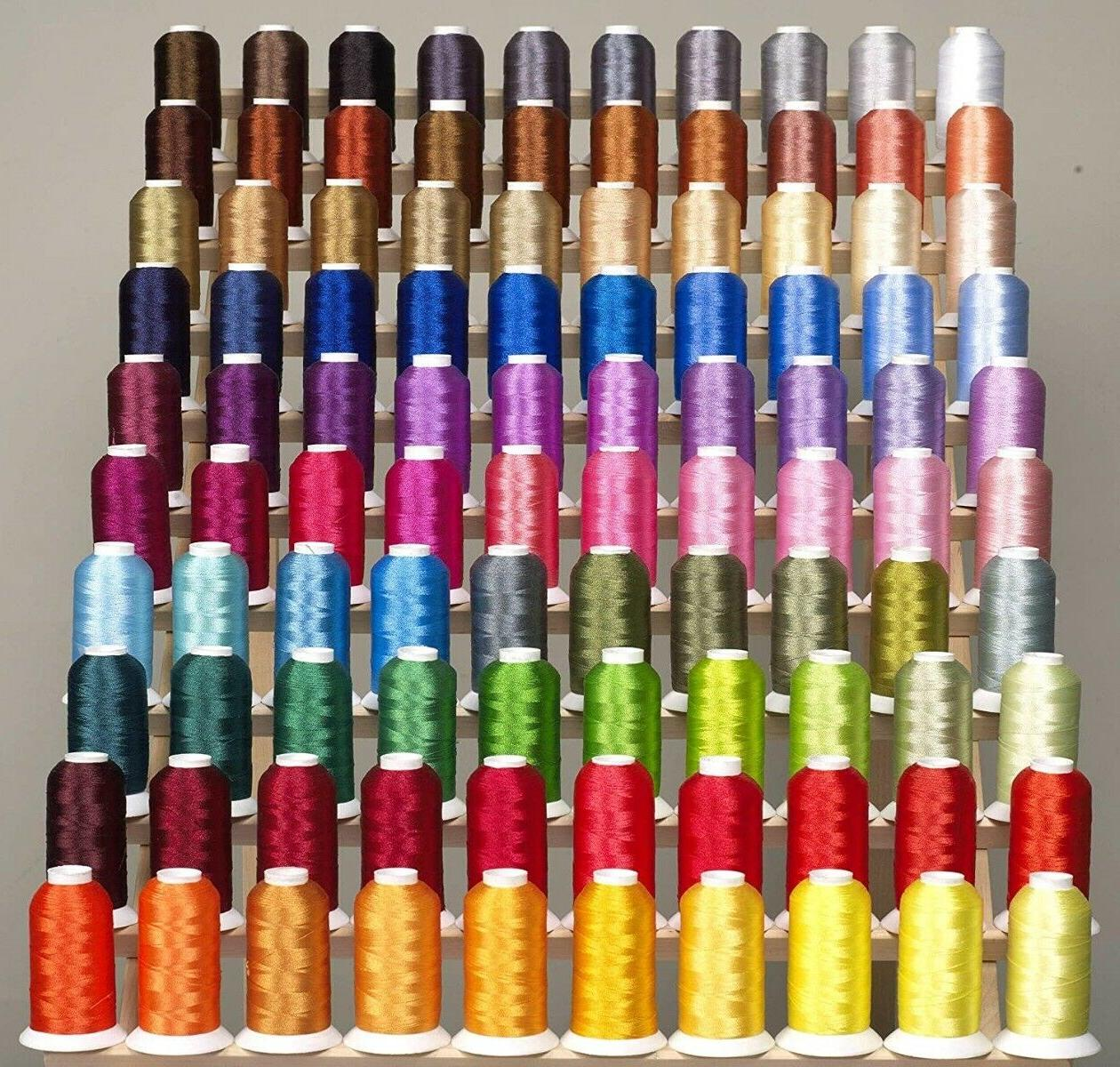 premium 100 cones of polyester machine embroidery