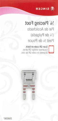 SINGER Quarter Inch  Piecing Snap-On Presser Foot for Low-Sh
